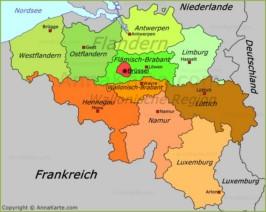 Belgien Karte - AnnaKarte.com