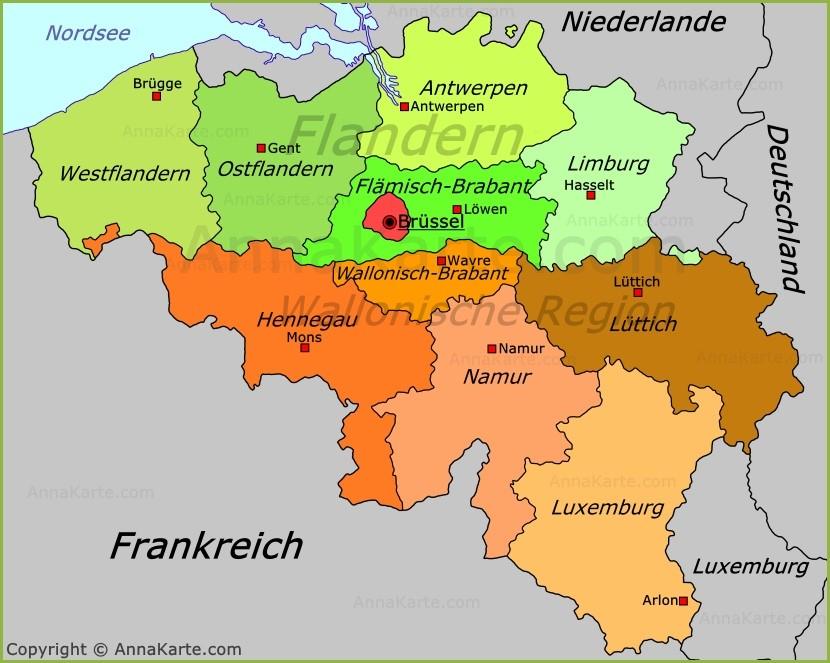 karte belgien Belgien Karte   AnnaKarte.com karte belgien