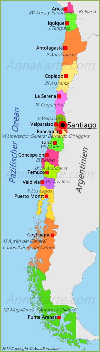 chile karte Chile Karte   AnnaKarte.com chile karte