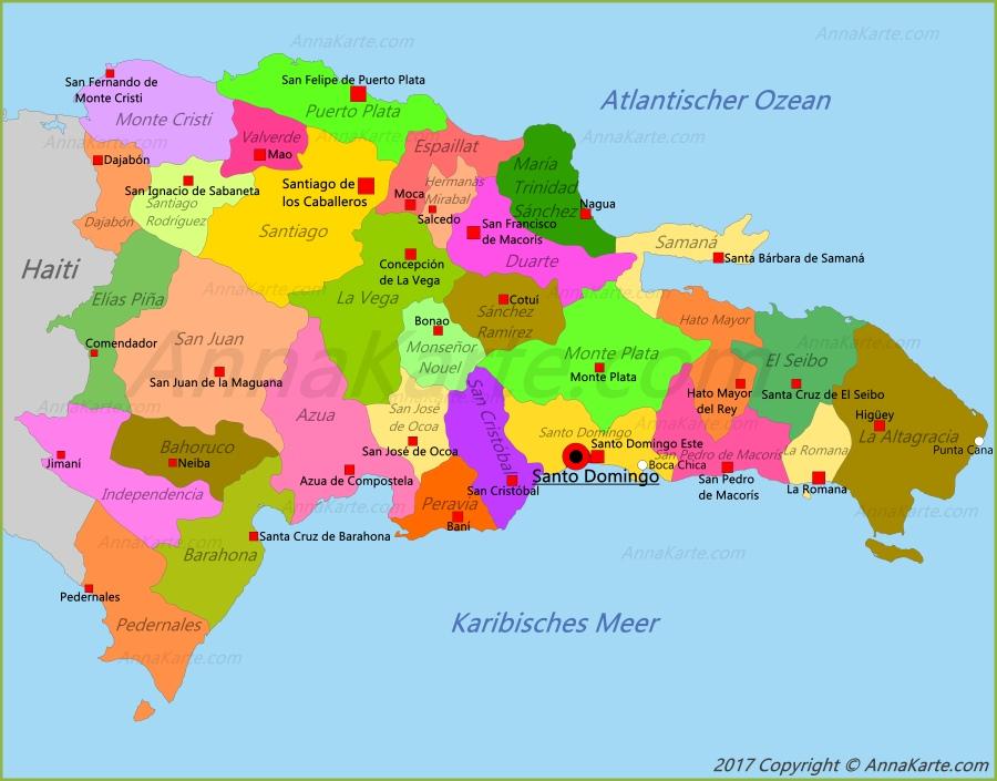 Dominikanische Republik Karte Annakartecom