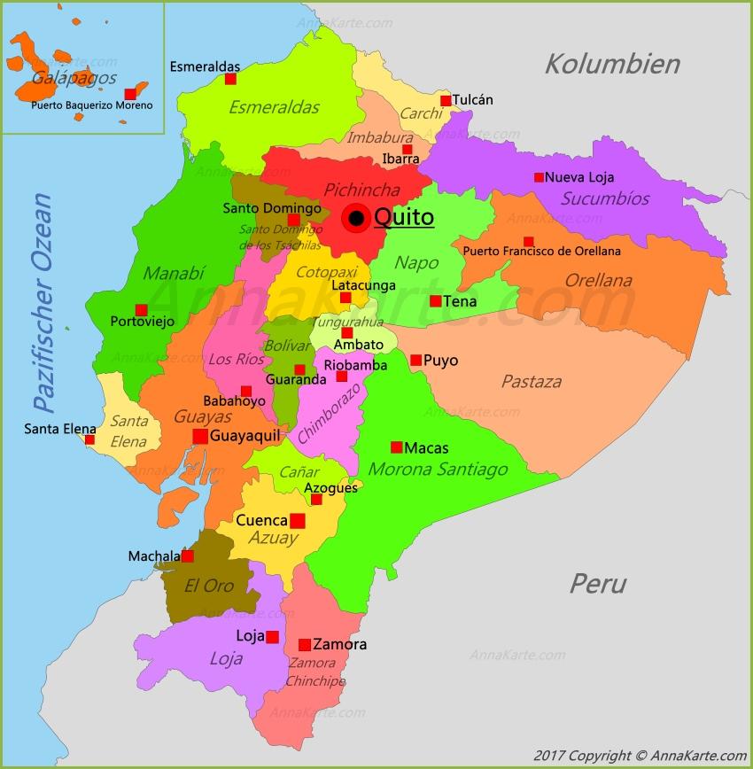 Ecuador Karte Annakarte Com
