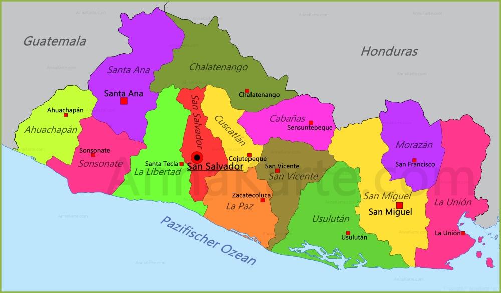 El Salvador Karte Annakarte Com