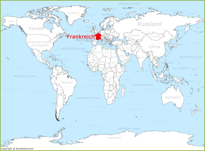 Eitelkeit Weltkarte Mit Städten Galerie Von Frankreich Auf Der