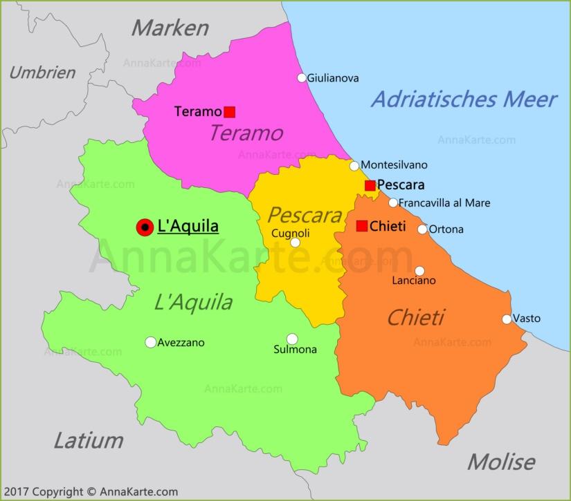 Abruzzen Karte