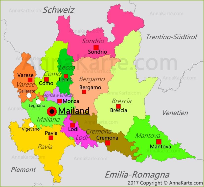 Lombardei Karte