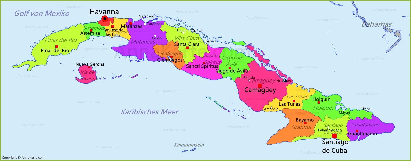 Havanna Kuba Karte.Kuba Karte Annakarte Com