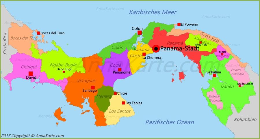 Panama Karte Goudenelftal