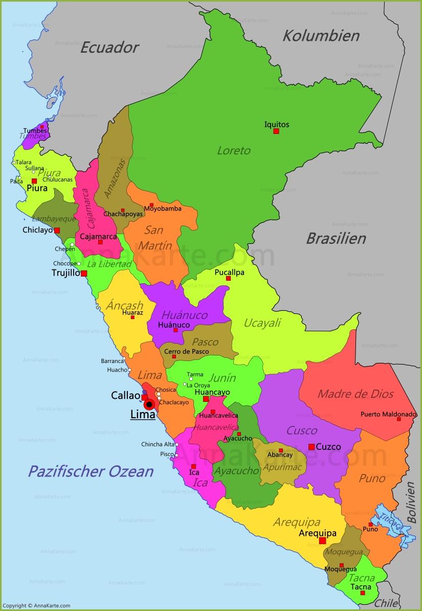 Peru Karte Annakarte Com