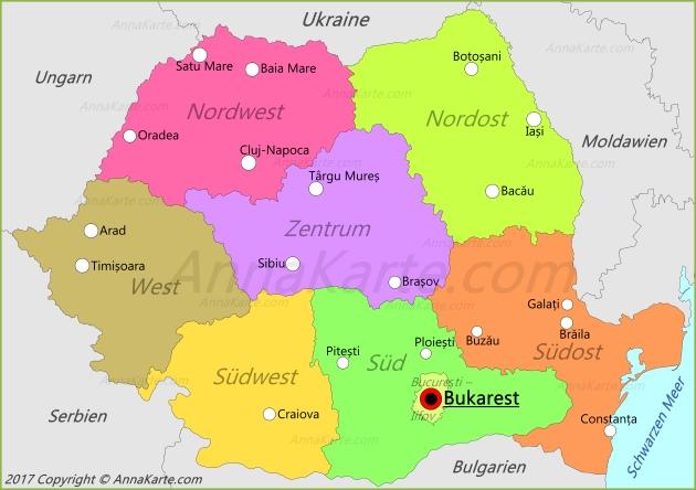 Rumanien Karte Annakarte Com