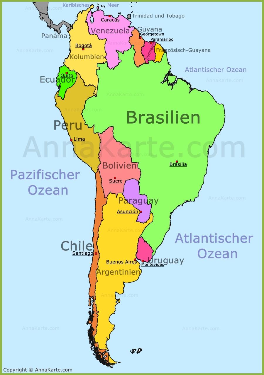 weltkarte südamerika Südamerika Karte   AnnaKarte.com weltkarte südamerika