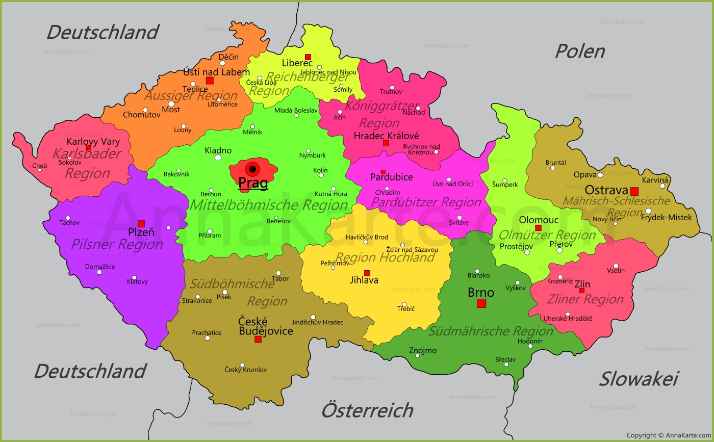 karte tschechien Tschechien Karte   AnnaKarte.com karte tschechien
