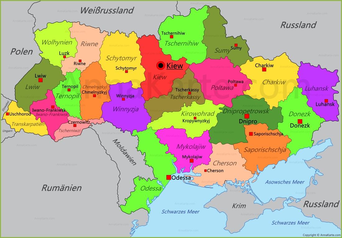 Ukraine Karte Annakarte Com