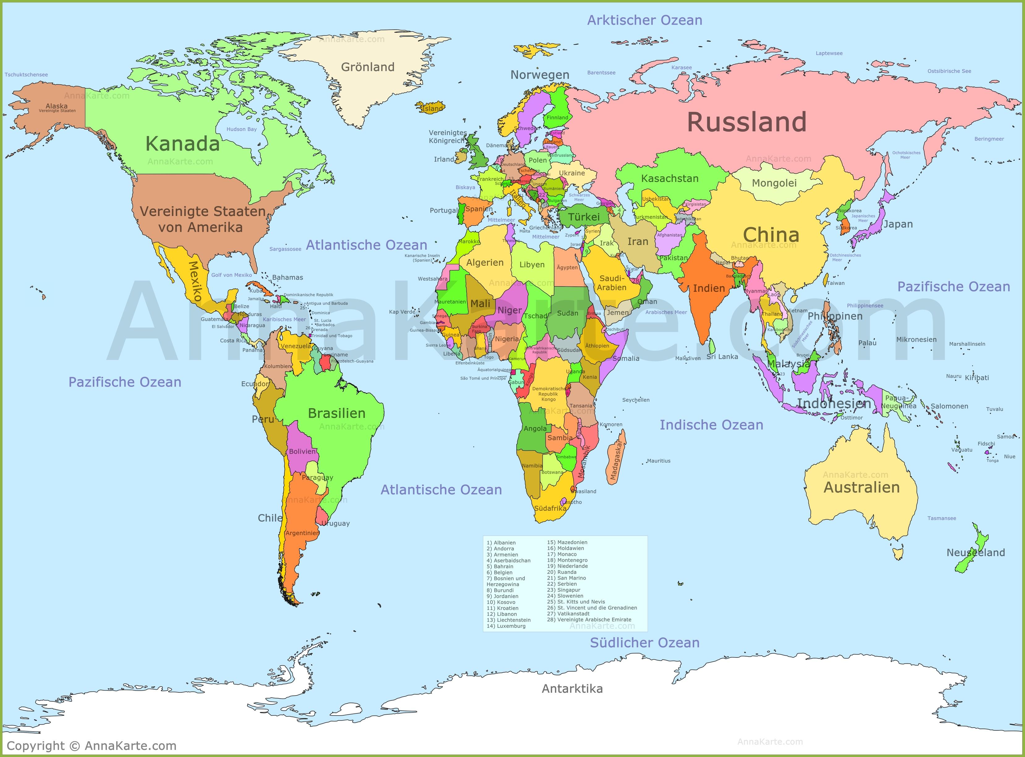 Weltkarte Annakarte Com
